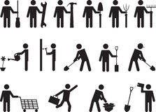 People pictogram activities Stock Image