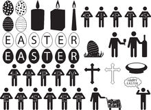 People pictogram for Easter Stock Image