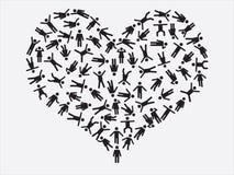 People pictogram heart Stock Photos