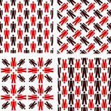 People pictogram seamless pattern Royalty Free Stock Photography