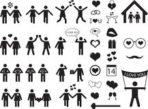 People pictogram for Valentine Day Royalty Free Stock Photo