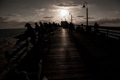 People on the Pier in California. Enjoy the people on the  pier in San Diego, California Royalty Free Stock Photo