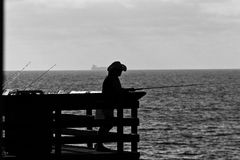 People on the Pier in California. Enjoy the people on the  pier in San Diego, California Stock Images