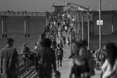 People on the Pier Royalty Free Stock Photos