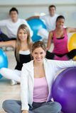 People with pilates ball Stock Photos