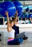 People at a pilates class Stock Photos