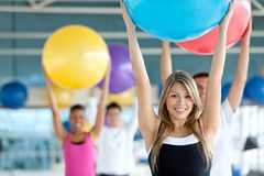 People at a pilates class Stock Image
