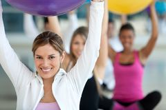 People at a pilates class Royalty Free Stock Photos