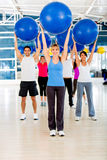 People in a Pilates class Stock Images