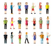 People pixel avatars Stock Images