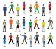 People pixel avatars Stock Photography