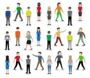 People pixel avatars Stock Photography