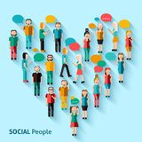 People pixel avatars Royalty Free Stock Photo