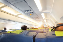 People in the plane Royalty Free Stock Photo