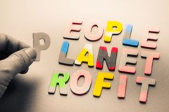 People, planet, profit Royalty Free Stock Photo