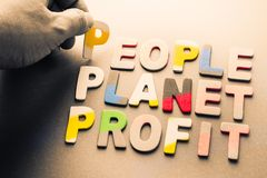 People, planet, profit Royalty Free Stock Images