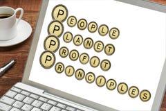 People, planet, profit, principles Royalty Free Stock Photos