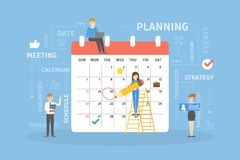 People planning calendar. People planning chores and duties with calendar Royalty Free Stock Photography