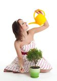 People and plants need clean water Stock Image