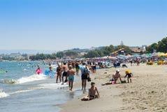People on Platanias beach Crete Stock Photos