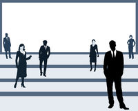 The people on a platform Stock Image