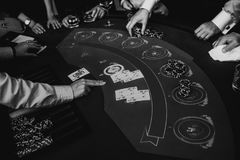 Free People Play Casino Games Croupier Dealer Focus Stock Photography - 124923582
