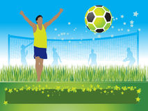 People play on football, summe Stock Photo
