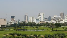 People play golf in the heart of Bangkok Stock Photos