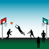 People playing basketball Royalty Free Stock Images