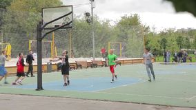 People playing basketball stock video footage