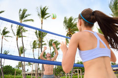 People playing beach volleyball - active lifestyle Stock Photography