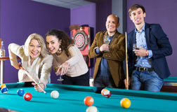 People playing billiard Stock Photos