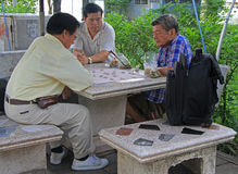 People are playing board game in Bangkok, Thailand Royalty Free Stock Photo