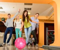 People playing bowling Stock Photos