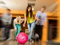 People playing bowling Stock Photography