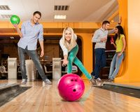 People playing bowling Stock Images