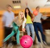 People playing bowling Royalty Free Stock Image