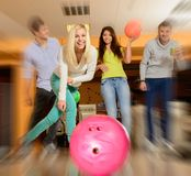 People playing bowling Stock Photo
