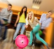 People playing bowling Stock Photo