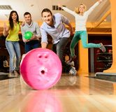People playing bowling Royalty Free Stock Photography