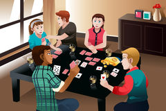 People playing cards Stock Photos