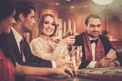 People playing in a casino Royalty Free Stock Images