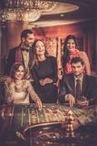 People playing in a casino Royalty Free Stock Photo