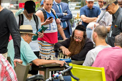 People playing chess in bryant park. Royalty Free Stock Image