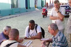 People playing domino Stock Photo