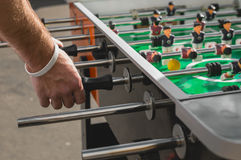 People Playing Enjoying Football Table. Soccer Game Recreation Leisure Royalty Free Stock Images