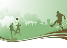 People playing football Royalty Free Stock Image