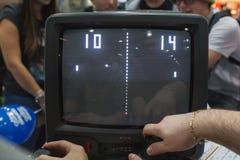 People playing at Games Week 2014 in Milan, Italy Stock Photo