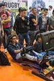 People playing at Games Week 2014 in Milan, Italy Royalty Free Stock Photos