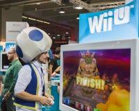People playing at Games Week 2014 in Milan, Italy Stock Image